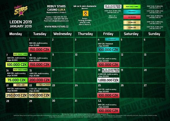 Lednové turnaje vRebuy Stars Luka